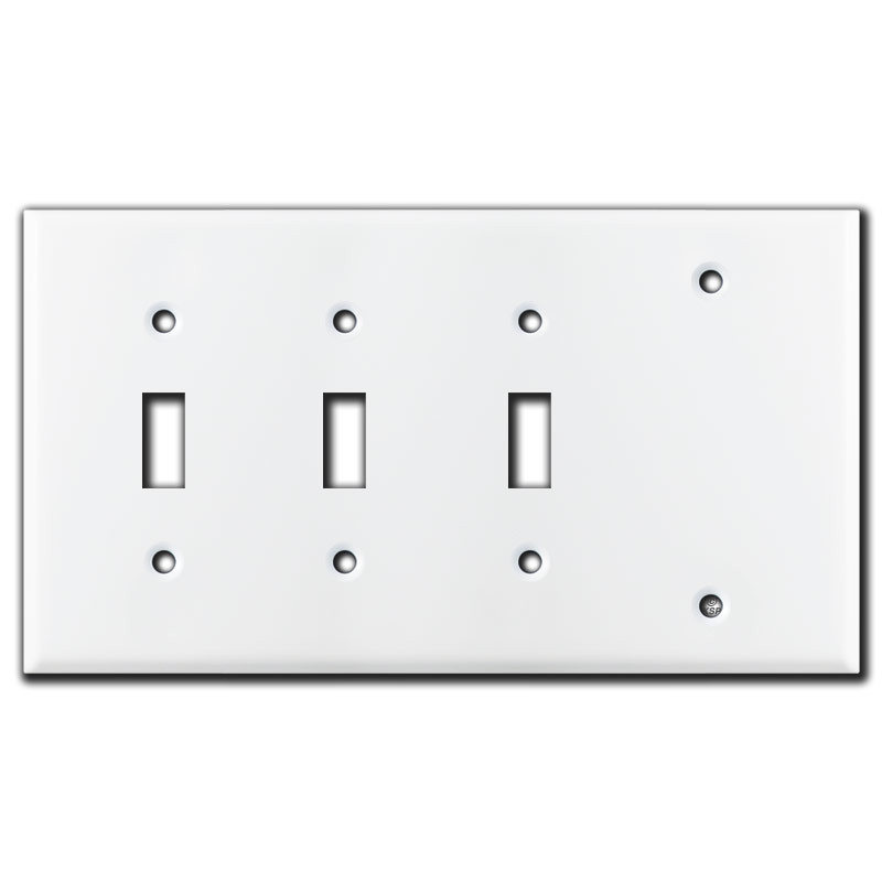 4 Switch Plate Gorgeous 4Gang 3Toggle 1Blank Switch Plates  White  Kyle Switch Plates Design Decoration