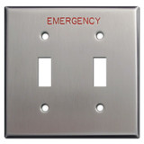 Emergency Double Toggle Switch Plate for Crucial Locations