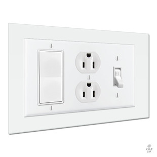 Wall Guard 8x6 Triple Light Switch Plate Expander Kyle
