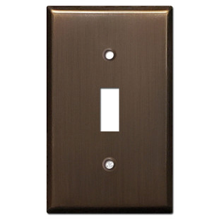 1 Toggle Light Switch Cover - Venetian Bronze