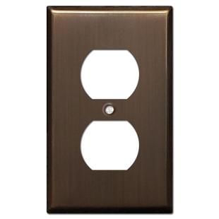 Duplex Electrical Outlet Cover - Venetian Bronze