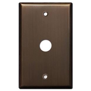 """.625"""" Telephone Cable Cover Wall Plate - Venetian Bronze"""
