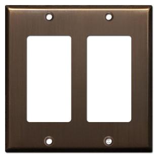 2 Rocker Switchplate Covers - Venetian Bronze