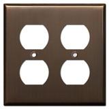 2 Duplex Socket Plate - Venetian Bronze