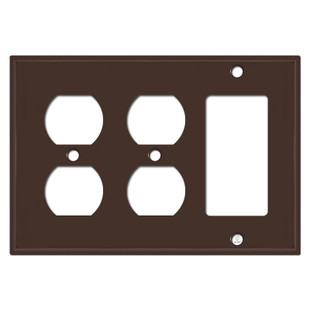1 Rocker 2 Electric Receptacle Cover - Brown