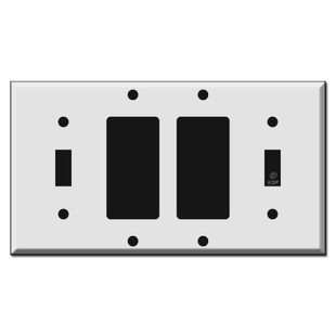 Toggle 2 Rocker Toggle Light Switch Covers