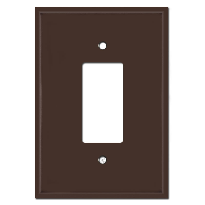 6 38 Larger Jumbo Rocker Switch Gfci Outlet Cover Brown