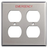 Emergency Double Duplex Switch Plate Covers