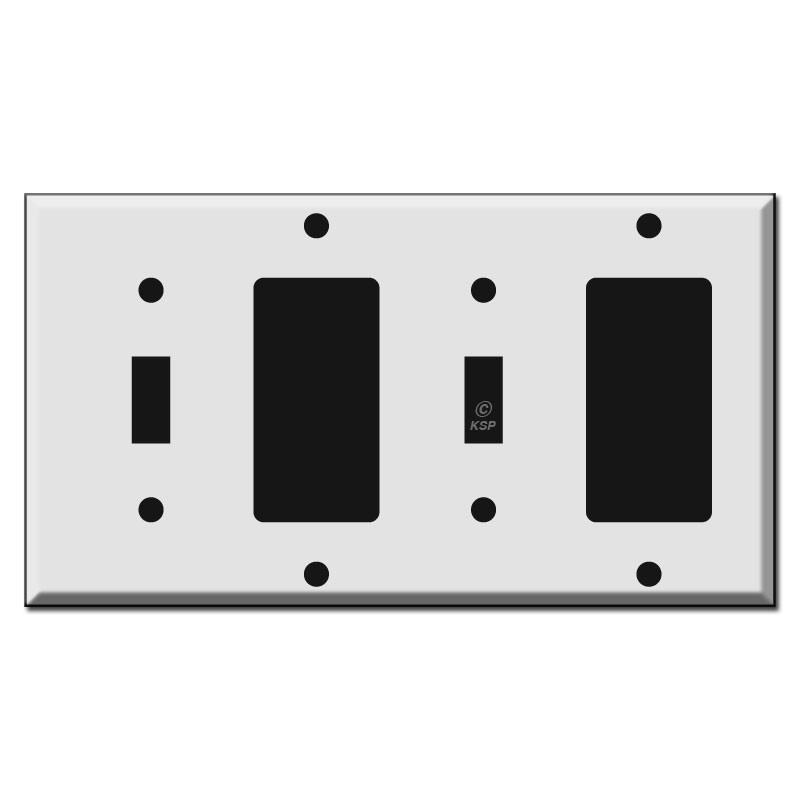 6-Gang Wall Plate Cover for Paddle//Rocker Light Switches and Outlets Decora
