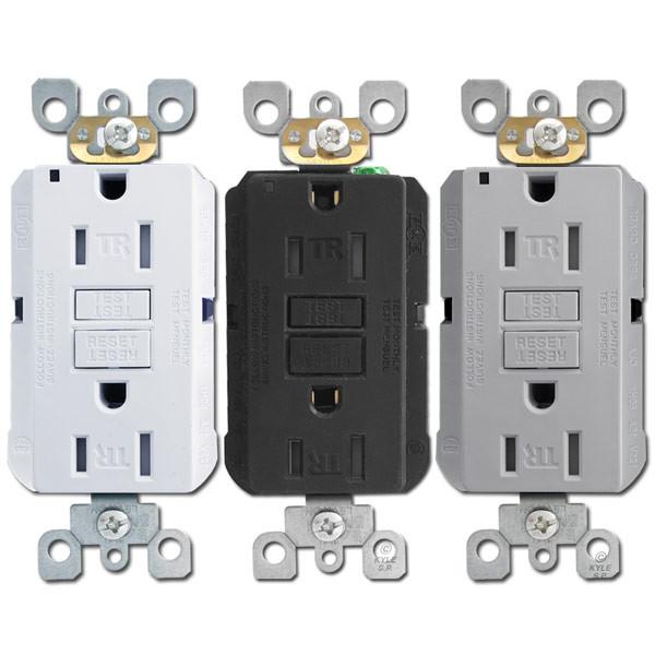 GFCI Decora Outlets 15A Tamper Resistant Leviton   Kyle Switch Plates