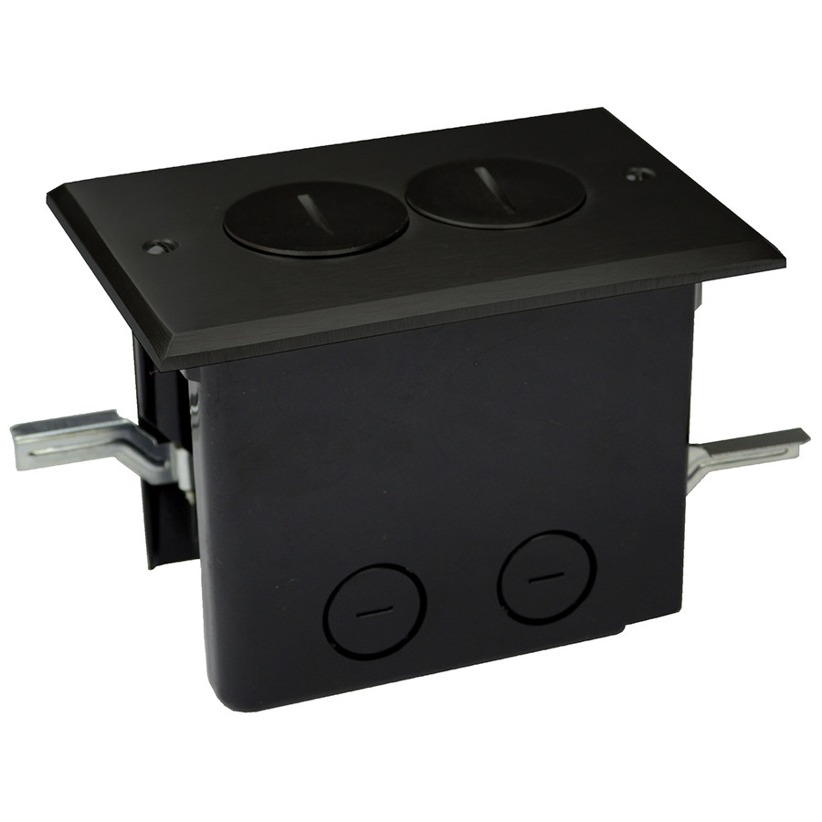 Electrical Floor Box - Duplex Outlet Dark Bronze Cover