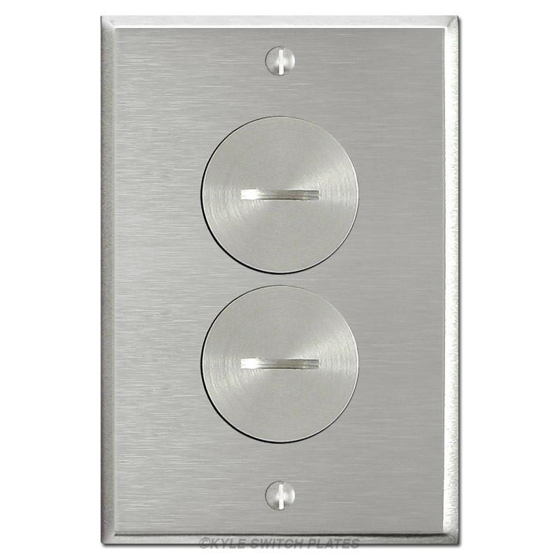 Floor Power Outlet Covers Nickel Duplex Receptacle Plate