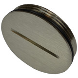 Floor Outlet Cover Screw Cap Replacement - Nickel Allied Moulded