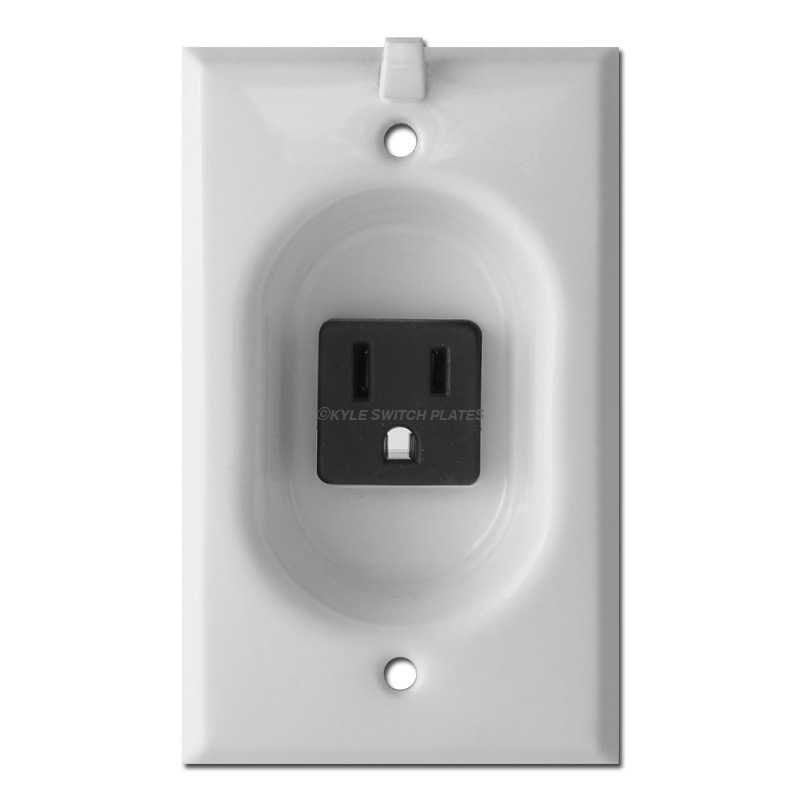 Recessed Wall Switch Plates, Inset Outlet Plug Covers