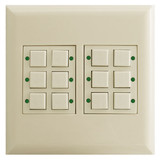 12-Switch Low Voltage LED Pilot Light Touchplate Classic - Almond
