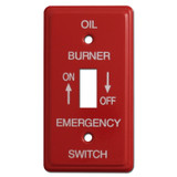 Red Emergency Single Toggle Oil Burner Utility Box Switch Plates #005