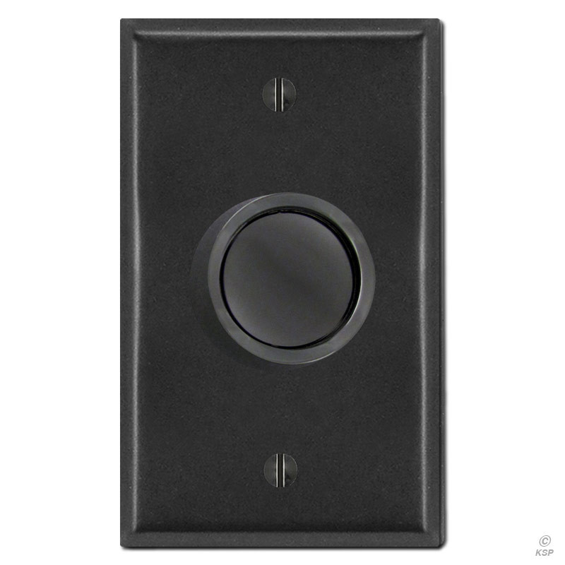 Black Rotary Dimmer Knob Amp Cover Plate Kyle Switch Plates