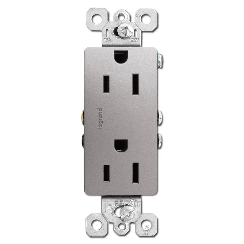 Nickel Outlet Receptacle Decor Tamper Resistant 15a 885tr