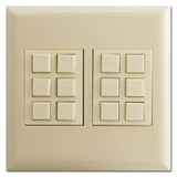 Low Voltage Touch-Plate Lighting Control Classic 12 Switch - Ivory