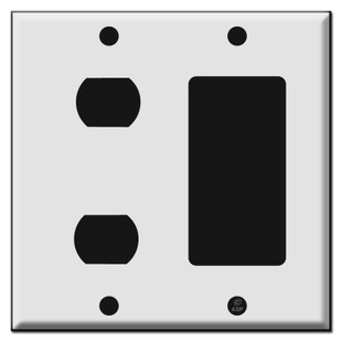 Switch Plate for 2 Despard and 1 GFCI Outlet or Rocker Switch