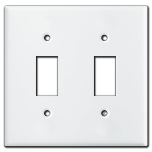 Somfy Extending Shade Double Switch Wall Plate Cover White