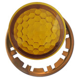 Amber Jewels for Round Pilot Light Switch Cover Plates