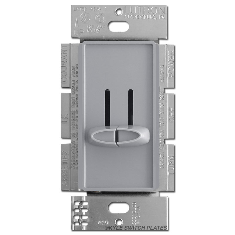 double dimmer switch controller gray lutron kyle switch plates. Black Bedroom Furniture Sets. Home Design Ideas