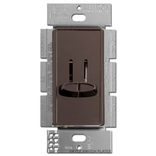 double light switch with dimmer brown lutron skylark. Black Bedroom Furniture Sets. Home Design Ideas