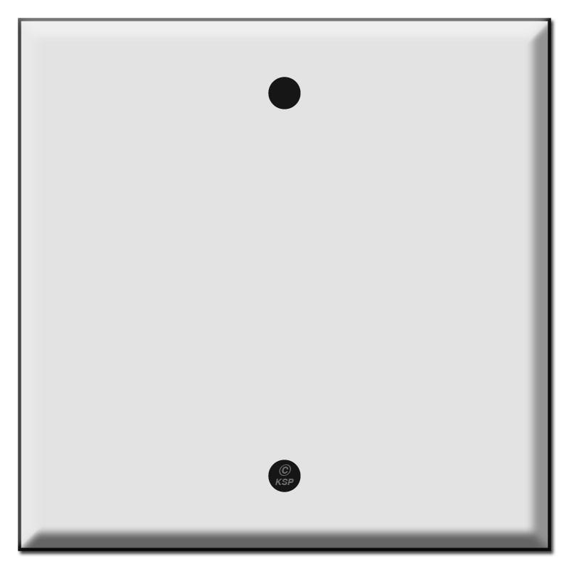 Double Gang Single Blank Centered Switch Plates