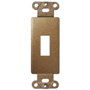 Bronze Decorator to Toggle Switch Wall Plate Insert