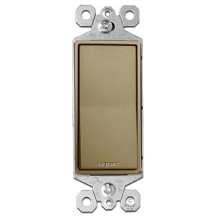 Antique Brass Light Switch 3-Way Rocker