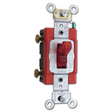 Red Lighted Switch - Toggle Illuminated When OFF 20A