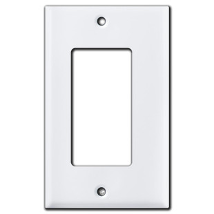 """1/8"""" Narrower Rocker GFCI Outlet Cover - White"""