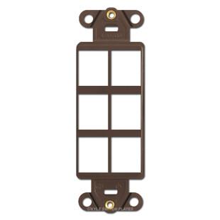 Modular 6-Port Communication Frame Leviton - Brown