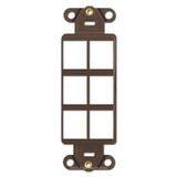 Modular 6-Port Communication Frame Leviton - Brown