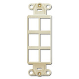 6-Jack Modular Communication Frame Leviton - Ivory