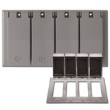 Weatherproof 4 Decor Wall Plate Covers for Wet Locations - Aluminum