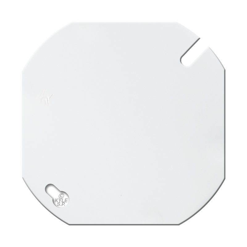 White 4 round blank wall plate cover kyle switch plates for Four blank walls