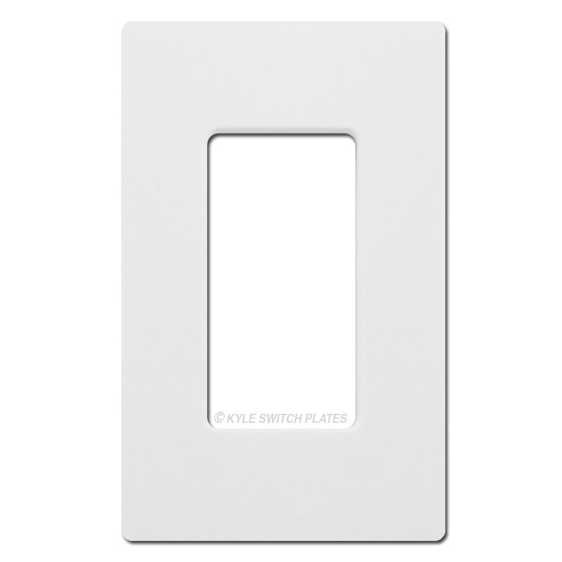 1 Rocker Gfci Screwless Wall Plate Lutron White Plastic