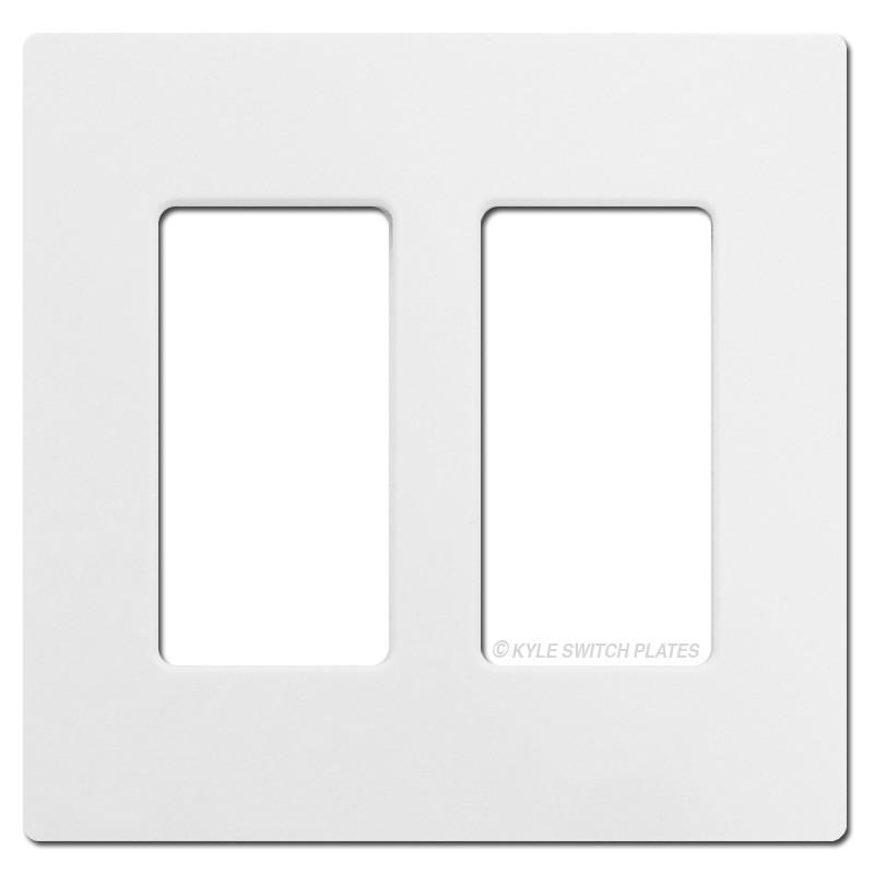 sc 1 st  Kyle Switch Plates & 2 Rocker GFCI Screwless Wall Plate Lutron - White Plastic