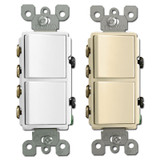 3-Way Stacked Decora Rocker Switches 20A Leviton 5640