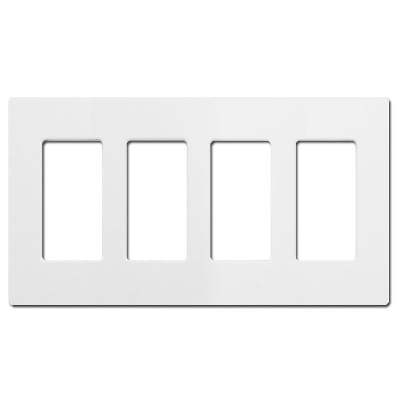 4 decor screwless switch or outlet cover lutron white. Black Bedroom Furniture Sets. Home Design Ideas
