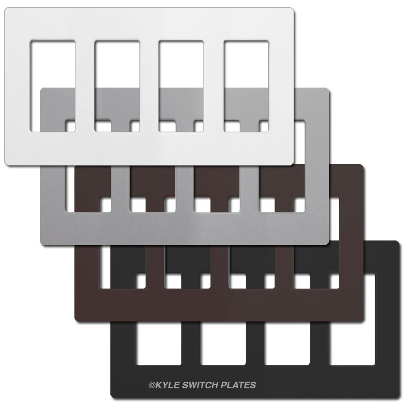 sc 1 st  Kyle Switch Plates & 4 Decor Screwless Plastic Wall Plate Covers Lutron