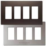 4 Decor Screwless Switch Wallplate Cover - Metallic Plastic