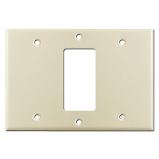 Blank Decor Blank Light Switchplate Cover - Ivory