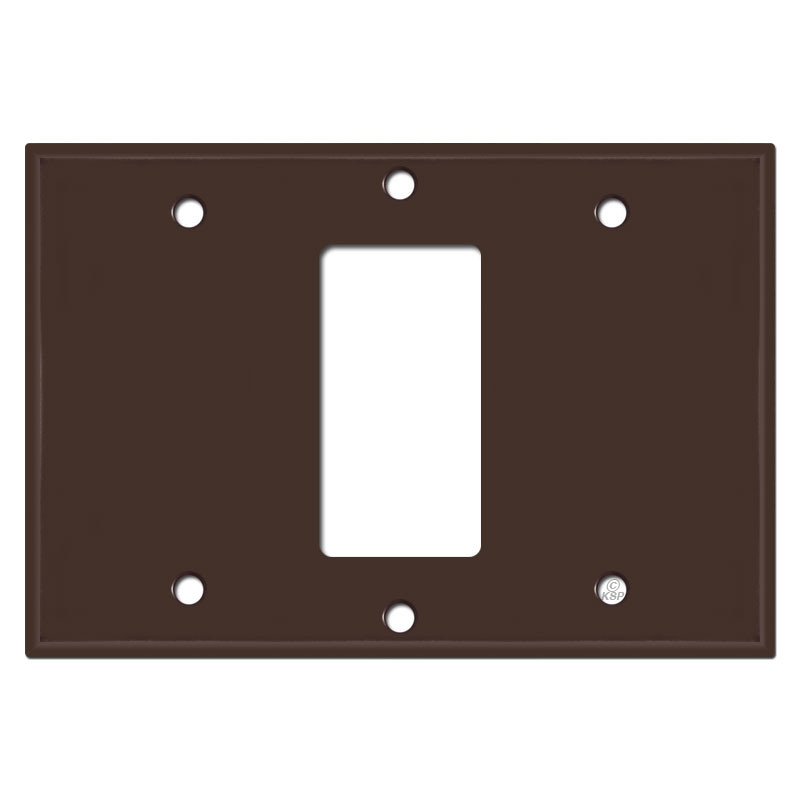 Gang Centered Rocker Light Switch Plate Cover Brown
