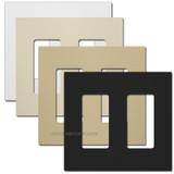 2-Gang Screwless Wallplates - Touch Plate Lighting
