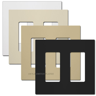 2-Gang Screwless Wallplates - Touch Plate Lighting