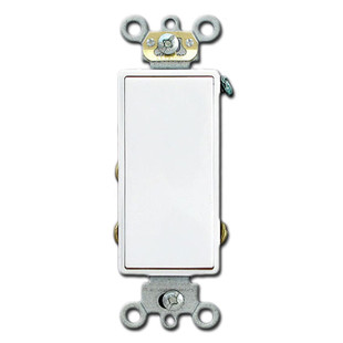 White Double Throw Center Off Momentary Contact Rocker Switch Leviton