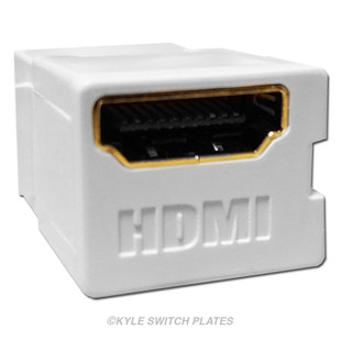 Leviton HDMI Connector Feed Through QuickPort 40834-W